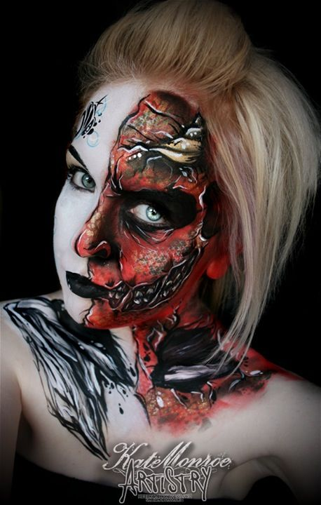 Angels and demons   heaven and hell - face paint body artAngels Demons Painting