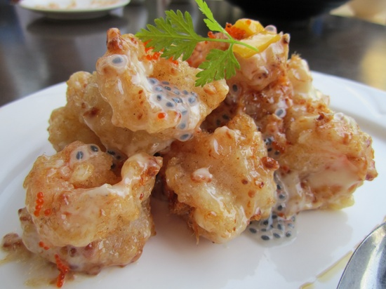 Salted Egg battered Deep Fried Prawns