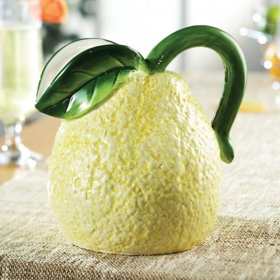 Fresh Fruit Ceramic Lemon Pitcher in Yellow – $23