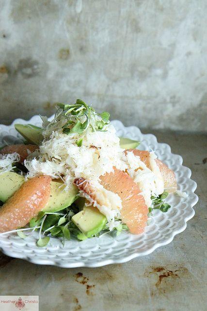 Crab, Avocado and Grapefruit Salad