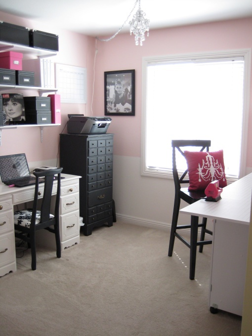 Home office - may be too girly for hubs!