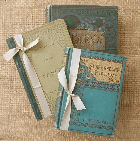Antique books. #teal