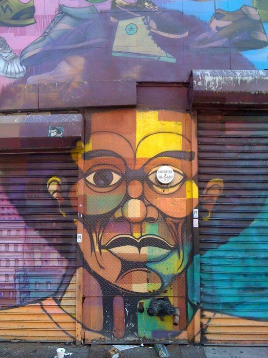 Street art in Harlem. Artist unknown.