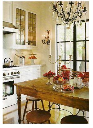 Glass cabinet doors.
