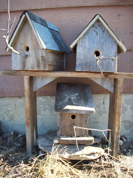 Making birdhouses out of an old barn
