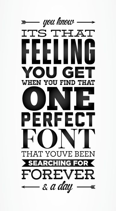 I love typography.