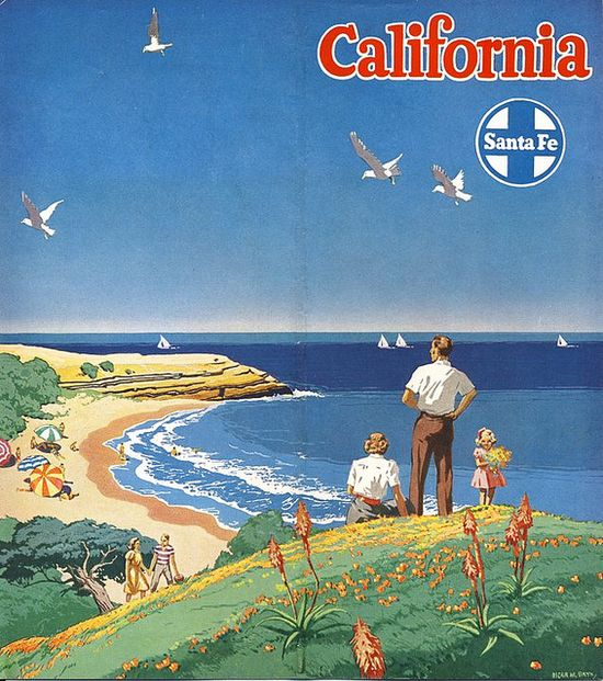 California * Santa Fe Railroad #tourism #poster