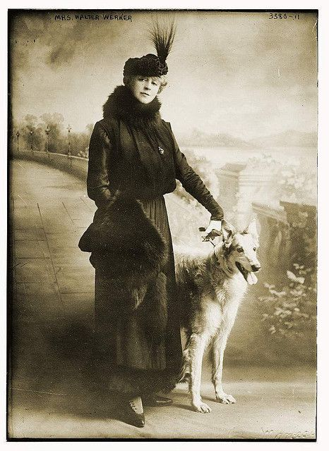 mrs walther werner and dog