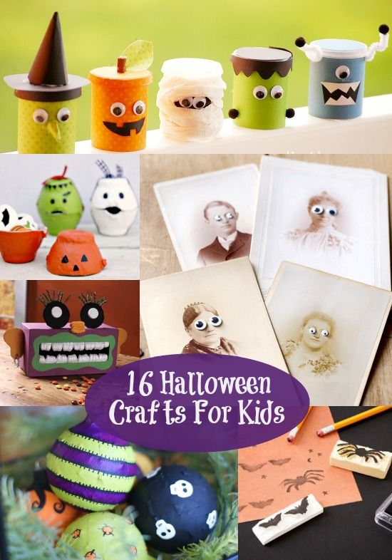 16 Easy Halloween Crafts For Kids - diycandy.com