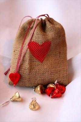 Handmade gift bag.