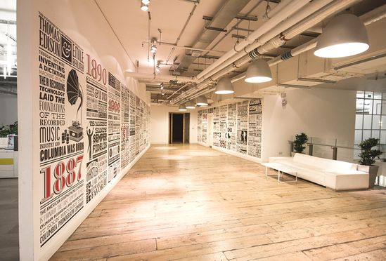 Office Sony Music #office #design