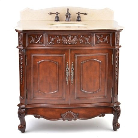 Mahogany Sinclair Vanity Sink #kirklands #bathroomluxury