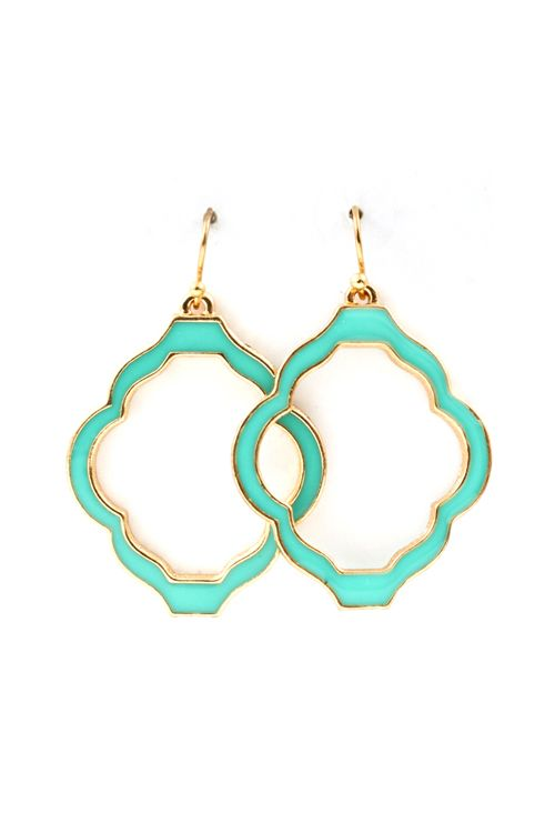 Madison Cutout Earrings in Turquoise