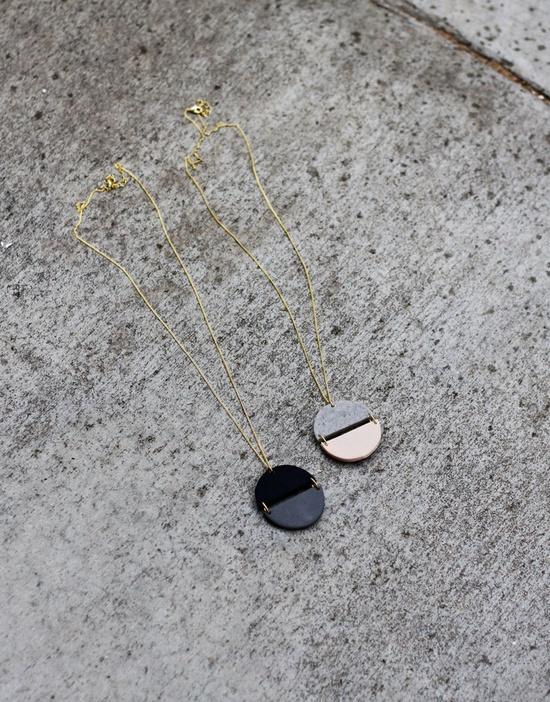 circle halves necklace by AMM