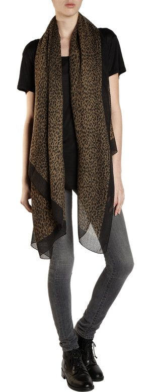 Saint Laurent Baby Cat Oversized Scarf at Barneys.com