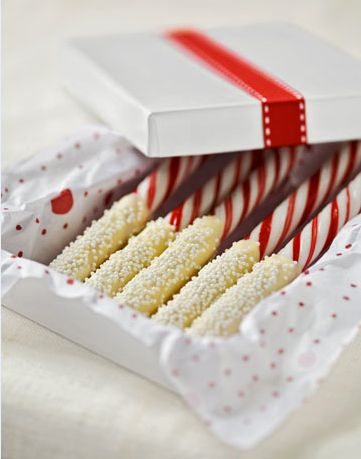 Choc dipped candy canes