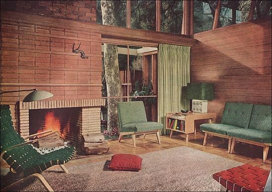 1951 Mid Century Modern Living Room