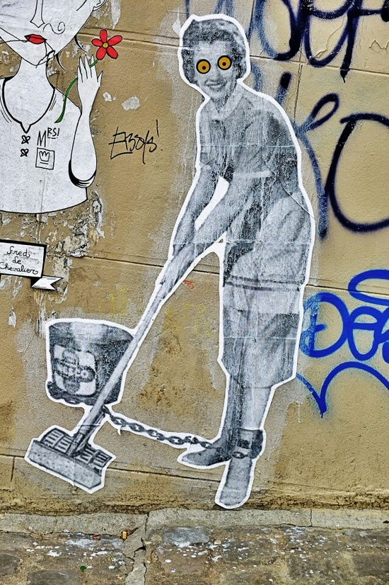 Paris 18 - rue foyatier - street art - leo & pipo