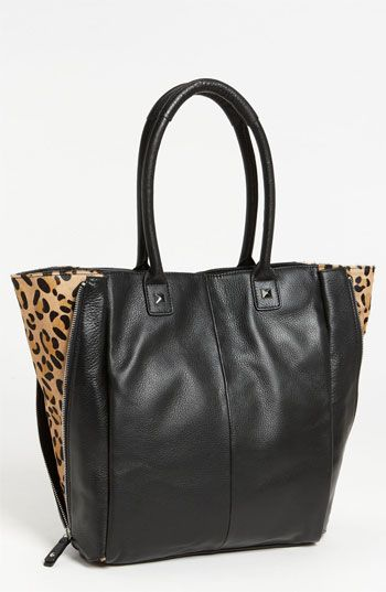 Halogen® Calf Hair Zip Out Leather Tote #Nordstrom #NSale