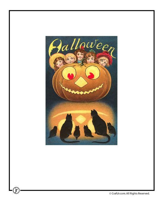 vintage halloween postcards                            www.craftjr.com/v...