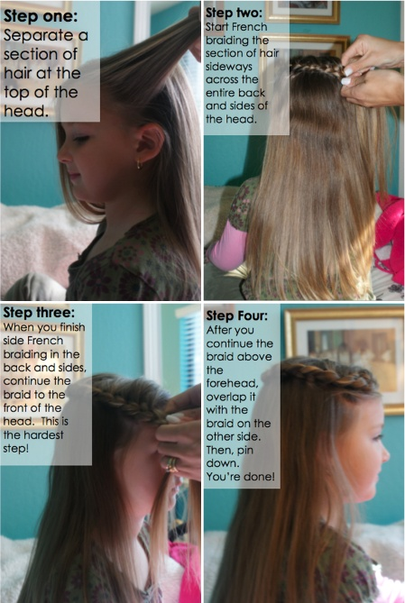 How to braid hair so it looks like a crown.