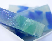 Beach glass glycerin soap