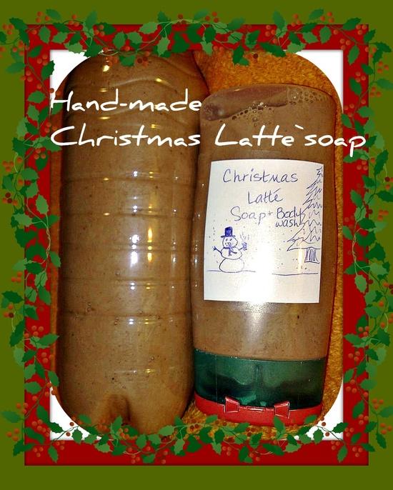 Handmade liquid soap! (scent: Christmas Latte')
