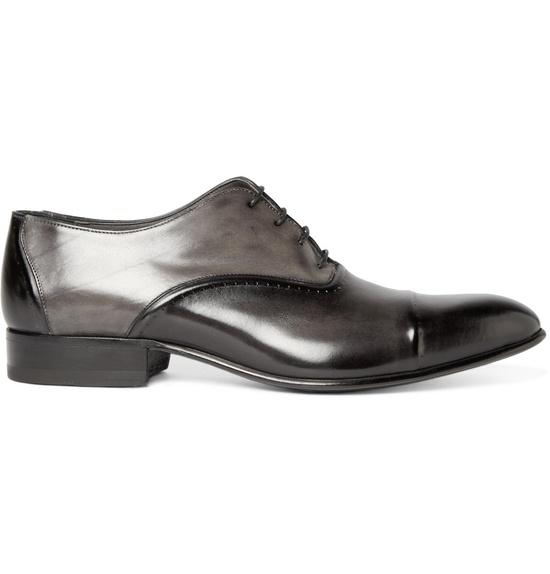 LanvinBrushed Leather Oxford Shoes