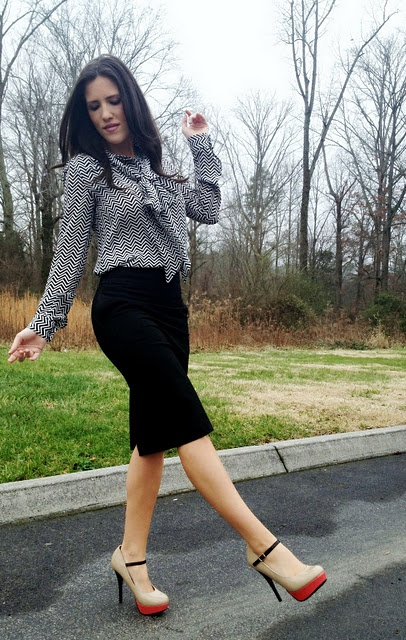 cute work outfit! love the shoes.
