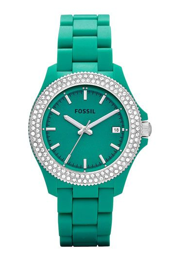 Ooh...my next watch for sure...fossil watch #emerald #coloroftheyear