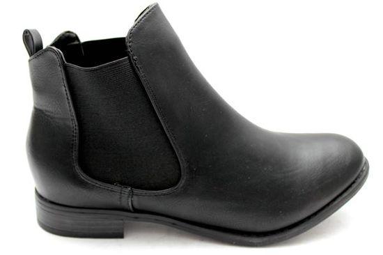 OLIVIA Vintage Style Chelsea Boots BLACK