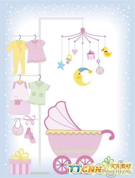 Cute baby vector design