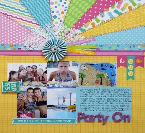 Adorable #scrapbook design  using the Party with Amy Locurto Scrapbook & Party #Paper Collection.