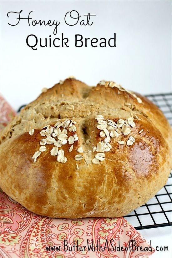 Honey Oat Quick Bread.