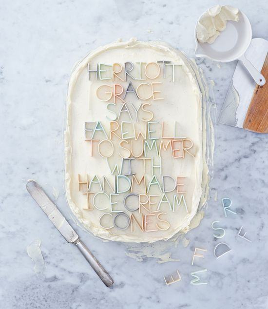 cake styling with letters  (HG