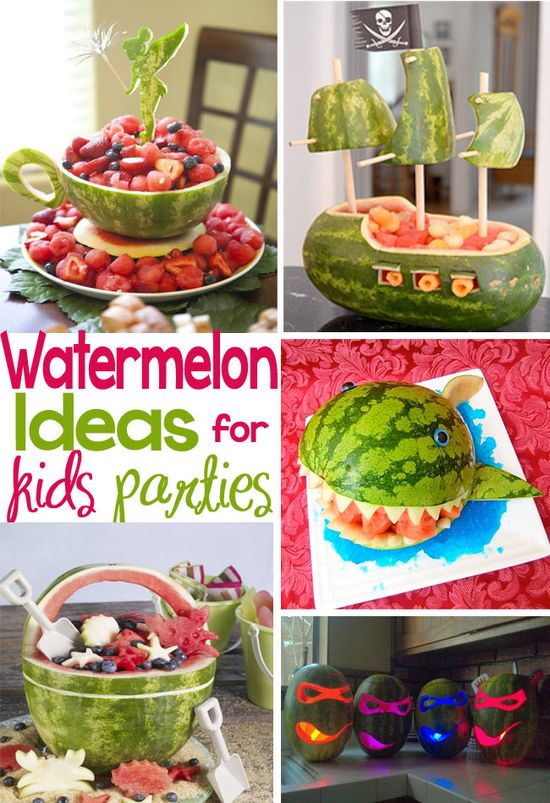 Creative ideas to serve watermelon at  kids parties - Design Dazzle