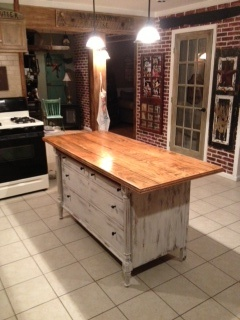 Kitchen Island made from old dresser.