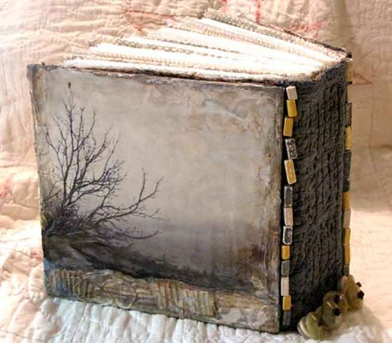 D J Pettitt handmade mixed media book cover