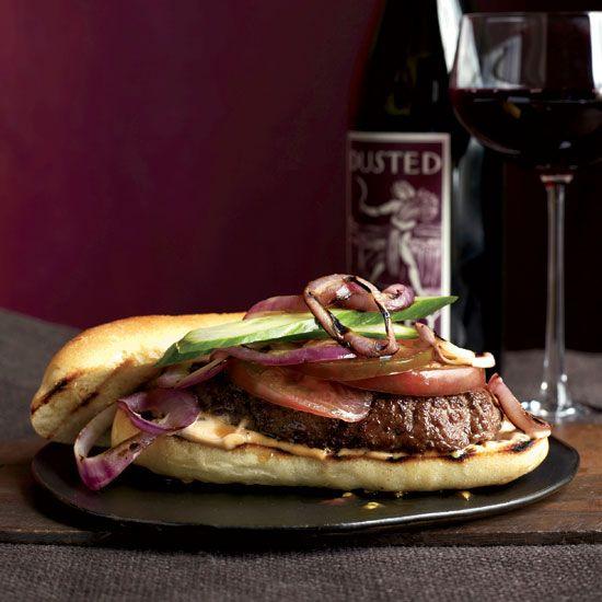 Cumin-Spiced Burgers with Harissa Mayo // More Delicious Burgers: www.foodandwine.c... #foodandwine