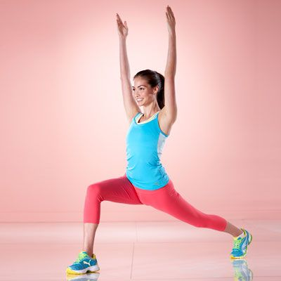 This exercise will work your entire body from your legs, to your abs, to your arms! Move of the Day: Flying CrescentLunges. #fitness