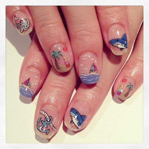 nailsalonavarice:  Summer mix art nails #avarice #art #kayo...