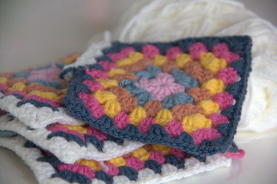 Gorgeous colours in this granny square @ Michelle Wals' flickr
