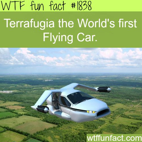 Terrafugia, the worlds first flying car -WTF fun facts