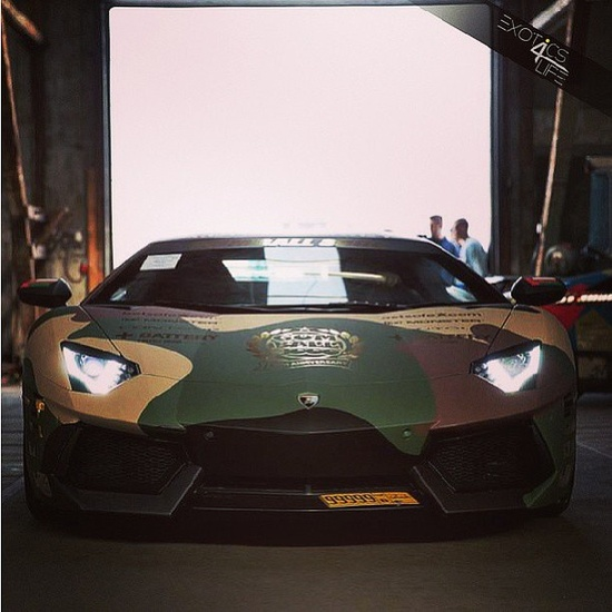 Behold the Awesome Camo Lamborghini Aventador everyone is talking about at this years Gumball 3000