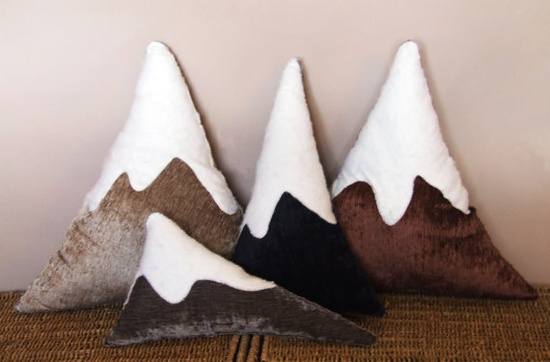 The Mountain Range Cushions by accordionapparel on Etsy