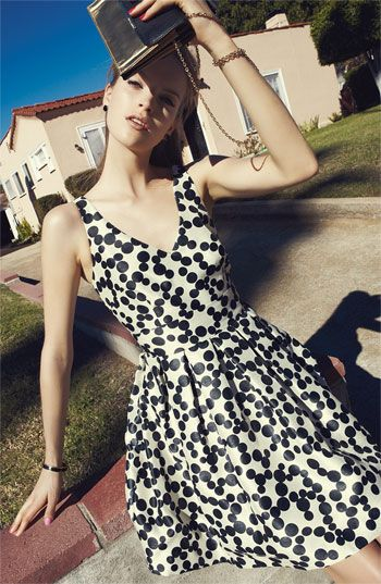 Taylor Dresses Dotted Fit & Flare Dress