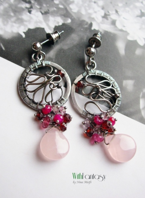 handmade earrings @by nina -reminds me of dream catchers