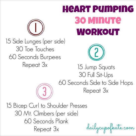 heart pumping 30 minute workout