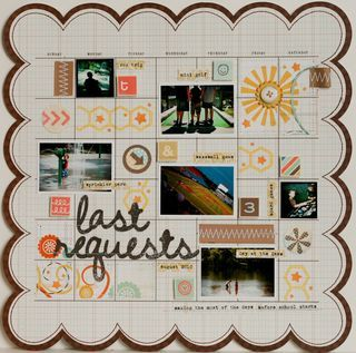 Scrapbooking layout by Lisa Truesdell
