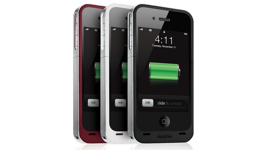 Mophie Juice Pack Air for iPhone.....doubles the battery life.
